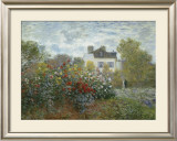 The Artist's Garden in Argenteuil, c.1873 Poster by Claude Monet