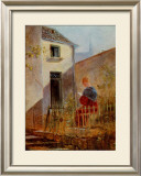 Im Hausgarten Garden Print by Carl Spitzweg