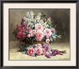 Lilac and Peonies with Irises Posters by Pauline Caspers