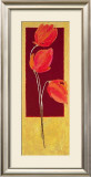 Flowers in Red I Poster by R. Lange