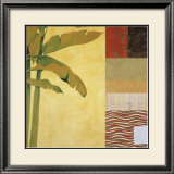 Collage with Banana Leaves IV Print by Julieann Johnson