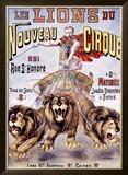Les Lions du Nouveau Cirque Framed Giclee Print by C. Levy