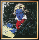 Beethoven, c.1987 (blue face) Art by Andy Warhol