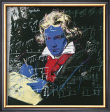 Beethoven, c.1987 (blue face) Print by Andy Warhol