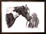 Heart to Heart Framed Giclee Print by Stacy Maeda