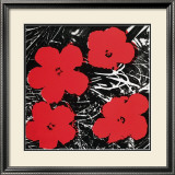 Flowers, c.1964 (Red) Print by Andy Warhol