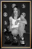 Madonna Posing with Awards Art
