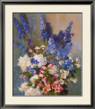 Larkspur, Peonies, And Prints by Laura Coombs Hills