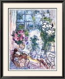 La ventana blanca Lámina por Marc Chagall