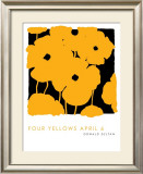 Four Yellows, April 6 2005 Print by Donald Sultan