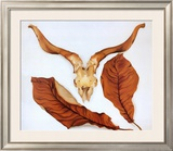 Ram's Skull with Brown Leaves Art by Georgia O'Keeffe