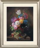 Rich Still Life of Roses Prints by Arnoldus Bloemers