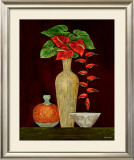 Red Anthuriums Print by Misa Eva