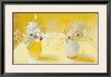 Honeysuckle & Sweetpeas Print by Winifred Nicholson