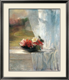 Flowers on a Window Ledge Print by John Lafarge