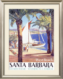 West Beach, Santa Barbara Framed Giclee Print