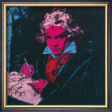 Beethoven, c.1987 (red face) Posters by Andy Warhol
