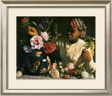 La Negresse aux Pivoines, 1870 Art by Frederic Bazille