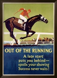 Out of the Running Framed Giclee Print by Frank Mather Beatty