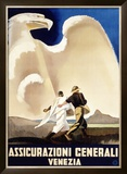 Assicurazioni Generali Venezia, 1936 Framed Giclee Print