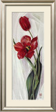 Two Red Tulips Posters by Maya Nishiyama