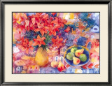 Fruit with Tiger Lilies Prints by Mae Book