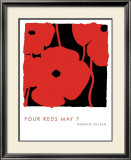 Four Reds, May 7 2009 Posters by Donald Sultan