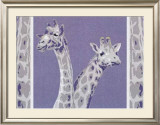 Two Giraffes Prints by Javier Palacios