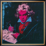 Beethoven, c.1987 (red face) Poster by Andy Warhol