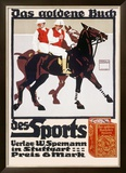 Golden Book of Sports, Horse Polo Framed Giclee Print by Ludwig Hohlwein