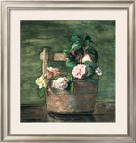 Camellias and Roses in Japanese Vase Posters by John Lafarge