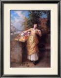 The Flower Seller Art by Augustus Mulready