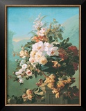 Roses and Other Flowers in an Urn Posters by Pierre Bourgogne