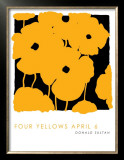 Four Yellows, April 6 2005 Posters by Donald Sultan