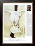 Twentieth Century Art Masterpieces - Cow's Skull with Calico Roses Prints by Georgia O'Keeffe