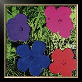 Flowers (Purple, Blue, Pink, Red) Art by Andy Warhol