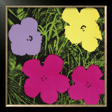 Flowers, c.1970 (1 Purple, c.1 Yellow, 2 Pink) Posters by Andy Warhol