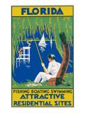 Florida Travel Poster Giclee Print
