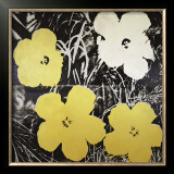 Flowers, c.1966 (Yellow and White) Print by Andy Warhol