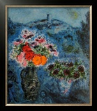 Bunch of Violets Art by Marc Chagall