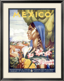 Mexico, Señorita Framed Giclee Print