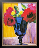 Roses in a Blue Vase Posters by Alexej Von Jawlensky