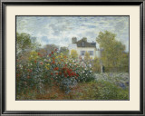 The Artist's Garden in Argenteuil, c.1873 Art by Claude Monet