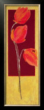 Flowers in Red I Prints by R. Lange