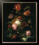Flower in a Crystal Vase Prints by Abraham Mignon