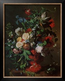 Flowers in an Urn Print by Jan van Huysum