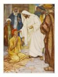 Jesus in Jerusalem Heals a Blind Man Giclee Print