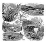 Gold Mining at Gwynfynnydd, North Wales, 1888 Giclee Print