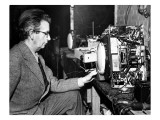 John Logie Baird Experimenting at Home, 1942 Giclee Print