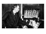 John Logie Baird, with Ventriloquist&#39;s Dummy Head Giclee Print